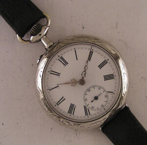 Vintage 120 Years Old Cylindre 1900 French Wrist Watch Perfect Fully Serviced