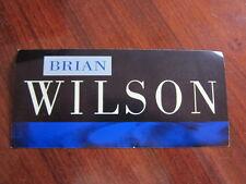 Brian Wilson Promo sticker