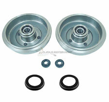 FORD FIESTA MK6 2002-2007 REAR 2 BRAKE DRUMS +2 FITTED WHEEL BEARINGS +ABS RINGS