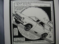 1977 Ford Pinto Wagon   Auto Pen Ink Hand Drawn  Poster Automotive Museum
