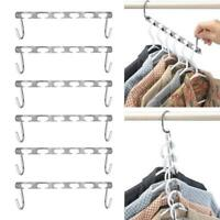 4xMulti Function Metal Magic Hook Clothes Closet Hangers Space Saver Organizer