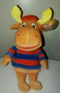 """Ty Beanie Baby - TYRONE the Moose 9"""" (BACKYARDIGANS Plush) MINT with MINT TAGS"""