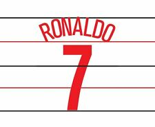 Ronaldo 7 Manchester United 2004-2005 3rd champions league Football Nameset