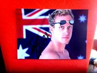 AUST SWIMMER HAYDEN Stoeckel HAND SIGNED  7X5 PHOTO