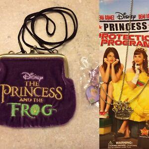 Disney TINKERBELL BRACELET & PRINCESS & THE FROG PURSE &Necklace Princess Selena