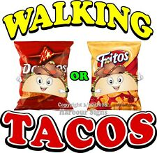 Walking Tacos Decal Choose Your Size Cart Food Truck Concession Vinyl Sticker