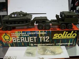 Solido Berliet T12 Transport with Patton M47 NEW IN BOX!!!