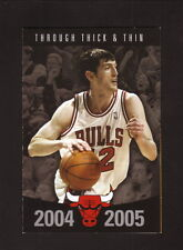 Chicago Bulls--Kirk Hinrich--2004-05 Pocket Schedule--Miller