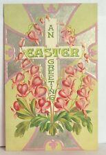 PostCard An Easter Greeting Lamprocapnos Floral Posted Stamp 3-25-1910 Vintage