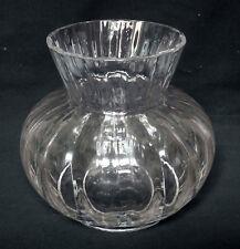 Vase en CRISTAL DE DAUM à côtes vénitiennes, modèle Acadie - signé Daum France