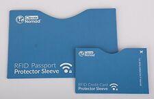 12-Piece RFID Blocking Credit Card/Passport Protector Sleeve Holder Set Kit Blue