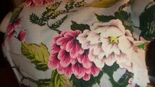 """40"""" x 64"""" vintage large pink flower design bark cloth"""