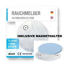 Rauchmelder 10 Jahre Lithium Batterie inkl. Magnethalter Feuermelder Brandmelder