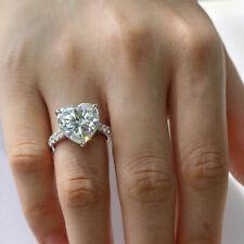 Ring 14k White Gold Valentine's Gift 2.60Ct Heart Cut White Diamond Engagement