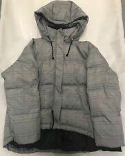 ZARA Black Grey Check Puffer Coat Down Jacket Small S