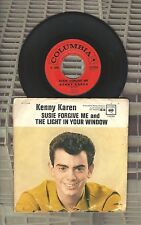 Kenny Karen Susie Forgive Me The Light In Your Window 45 Record Picture Sleeve