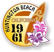 Rétro Planche de Surf Surfer Huntington Plage CALIFORNIA 61 Voiture Caravane