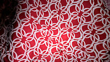 beautiful tissu jersey lycra red blanc 100X140 cm