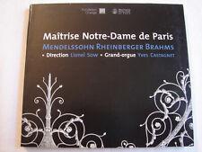 3952 Maitrise Notre Dame de Paris Mendelssohn, Rheinberger, Brahms Lionel Sow CD