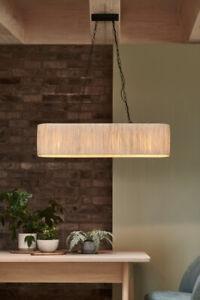 🤎 Raffia 4 Light Linear Bar Pendant Light Shade Brand New rrp £130 Next 🤎