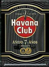 Havana Club Rum (black) metal postcard / mini sign  110mm x 80mm  (hi)