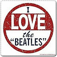 Tappetino sottobicchiere drink 'I Love The Beatles' (ro)