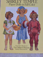 Vintage Reproduction Original Shirley Temple Paperdolls In Color.