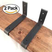 "2 Pack - 7.25""x4"" Lip Shelf Brackets Angle Metal Shelve Modern Industrial Iron"