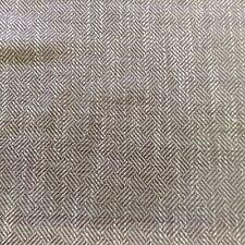 Vintage London Clay Linen Maple Herringbone Basket Upholstery Fabric 120 wide