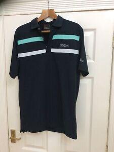 Oscar Jacobson Ace Tour Golf Polo Shirt Mens L Large Nwot Navy Blue (z)