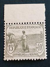 France N° 150 15 C +10 C Gris Vert Neuf ** BDF TTB  Qualité Côté 125€