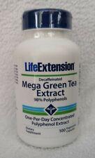 Life Extension Mega Thé Vert Extrait (Décaféiné) 100 Végétarien Capsules