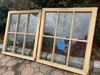 2 - 26 x 29 Vintage Window sashes old 6 pane From 1928  Arts & Craft