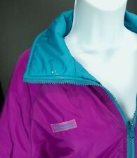 Large Columbia Vtg 90s Reversible Thinsulate Puffer Jacket Coat Purple Teal Snow