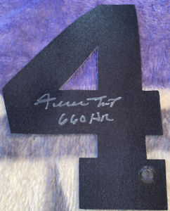 Willie Mays Autographed Number Four Say Hey Authentic 660 HR Inscribed! PSA DNA