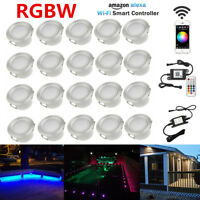 20X 45mm RGBW 2in1 Smart Wifi Timer Outdoor Stair Soffit LED Deck Kitchen Lights