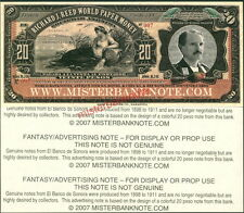 20 PESOS FANTASY ART ADVERTISING NOTE FOR MISTERBANKNOTE BY F-T-C-GRAFIX - NEW!
