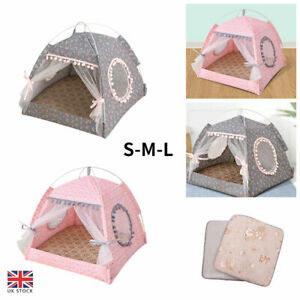 Pet Dog Cat Nest Bed Tent House Puppy Cushion Warm Comfy Sleeping Winter Fluffy