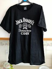 ORIGINAL JACK DANIELS CIDER  LARGE   ORIGINAL BLACK   T/ SHIRT  FROM 2017