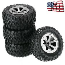 4Pcs Rubber Track Wheel Tyre Upgrade Parts For 1/16 Wpl B-1 B-14 C-14 Rc Car Us