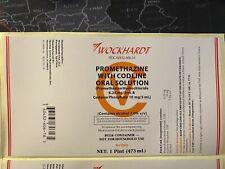 Wockhardt Labels Cough Syrup Actavis Lean Syrup REAL WOCK LABEL Pint 🥤