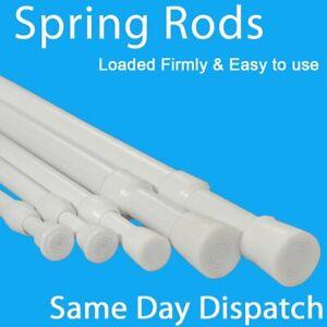 Spring Net Shower Curtain Rods Voile Extendable Tension Telescopic Pole Poles