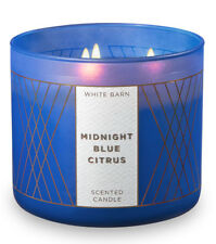 Bath & Body Works Midnight Blue Citrus Three Wick 14.5 Ounces Scented Candle