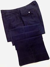 Façonnable Pants 41x35 Blue Navy Flat Front Casual Chinos Cotton Trouser Man Sz