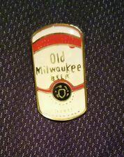 Vintage Nos Old Milwaukee Beer Can Label Enamel Pin .