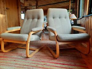 Sessel Clubsessel Vintage 60er Freischwinger Easy Chair Danish Westnofa Ära 1/2