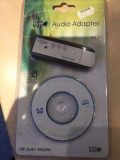 USB AUDIO ADAPTOR FOR COMPUTER NEW