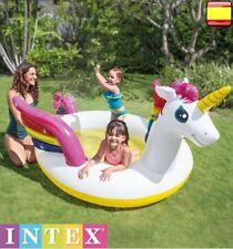 Piscina hinchable para niños INTEX Unicornio portatil con PULVERIZADOR