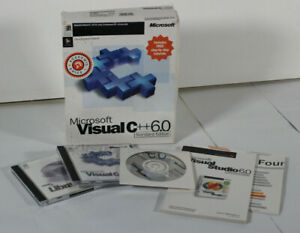 Microsoft Visual C++ 6.0 Standard Edition Computer Software C ++ 6 Set Language