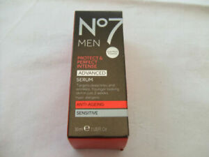 Boots No 7 Men Protect & Perfect Advanced Face Serum Sensitive Skin 30ml